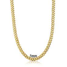 Тяжелая золотая цепочка для мужчин, большая Длинная цепочка золотого цвета в стиле хип-хоп, кубинская цепочка из нержавеющей стали, ожерель...(Китай)
