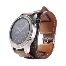 2,2 см Модный Топ брендовый роскошный сменный Браслет из натуральной кожи для samsung gear S3 Frontier ремень для часов(Китай)
