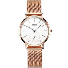 OLEVS модные женские часы с сетчатым браслетом, розовое золото, повседневное роскошное платье, водонепроницаемые наручные часы для леди zegarek ...(Китай)