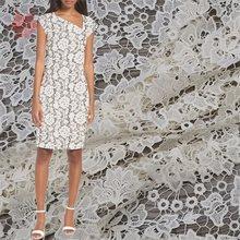 Женская кружевная ткань с вышивкой кремового и белого цвета в африканском стиле, модель SP5829, 2019(Китай)
