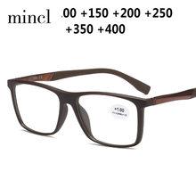 2019 новые ультралегкие Квадратные прозрачные очки для чтения мужские маленькие квадратные очки при дальнозоркости с 0. .. + 4,0 NX(Китай)