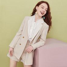 ARTKA 2020 Ранняя осень новые женские блейзеры модные OL стиль куртка комплект Повседневный блейзеры костюм с шортами комплект из 2 предметов для...(Китай)
