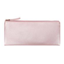 Кожаный чехол-карандаш, 1 шт., простые сумки для ручек, держатель для макияжа для женщин и девочек, подарок, школьные канцелярские принадлежн...(Китай)