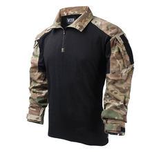 TRN открытый Splashproof боевой длинный рукав тактическая рубашка- (MC + черный) XXL(Китай)