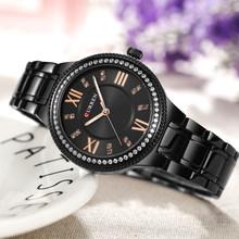 Curren женские часы кварцевые часы для женщин модные женские наручные часы Iced Out Dimaond Reloj Mujer серебряные часы из нержавеющей стали(Китай)