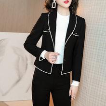 AYUNSUE 2020 Женский блейзер сезон весна осень черное пальто женское элегантное короткое дамское пальто женские блейзеры и куртки YJW1917341H KJ(Китай)