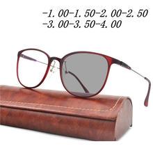 Tr90 красные очки для близорукости для женщин и мужчин ясные модные круглые близорукие с диоптрий-1.0to-4,0 FML(Китай)