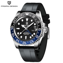 Мужские автоматические механические часы PAGANI, дизайнерские часы 40 мм с сапфиром GMT, 100 м, водонепроницаемые мужские часы, мужские часы(Китай)
