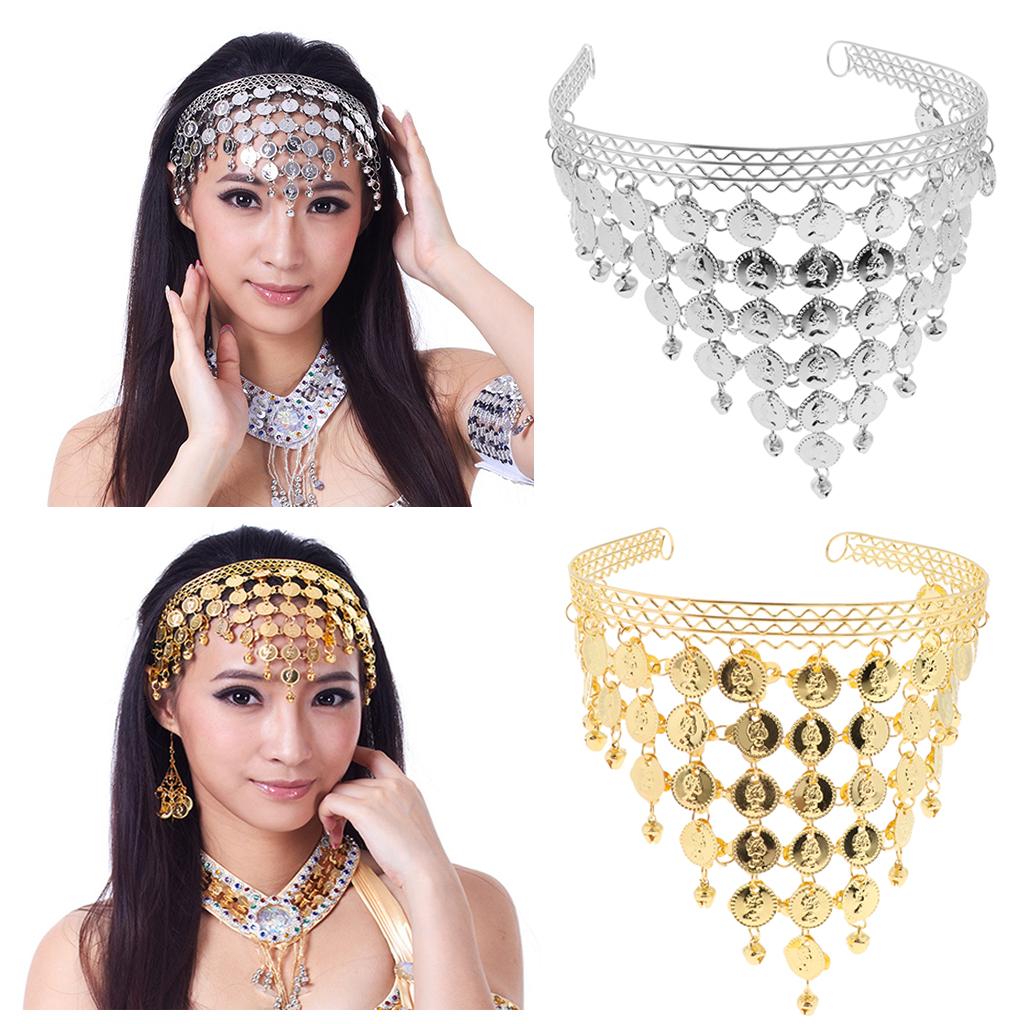 Bohemia Jewelry Set Belly Dance Costume Tribal Coin Headband Tassel Women