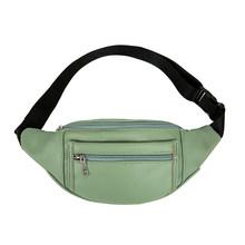 Поясная Сумка из искусственной кожи, двухслойная Женская нагрудная сумка на молнии, Женская Повседневная элегантная легкая сумка, сумка на ...(Китай)