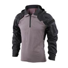 BACRAFT SP2 версия тактическая рубашка боевая одежда-Черный Серый XS/S Размер(Китай)