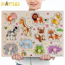 Монтессори Деревянные Пазлы ручной захват доски Игрушки Tangram головоломки детские образовательные игрушки мультфильм автомобиль животные ...(Китай)