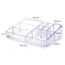 Большой органайзер для макияжа, офисный органайзер, коробка для косметики, пластиковая коробка для хранения, стол, ванная комната, косметич...(Китай)