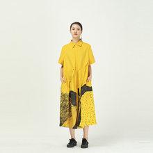 XITAO платье с одной грудью, Модное Новое винтажное платье с принтом размера плюс, свободное Повседневное платье богини фана на лето 2020, XJ1265(Китай)