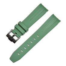 Ремешок для часов 20 мм из натурального каучука, силиконовый ремешок для часов с пряжкой, ремешок для ушей, сменный ремешок для часов с часами...(Китай)