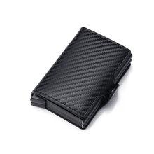 Защитный чехол для банковских карт Rfid, мужской кошелек из кожи и алюминия(Китай)