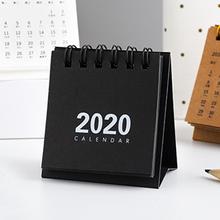2020 крафт-бумага в рулонах календарь DIY Мини Настольный календарь ежедневный планировщик 2019,09-2020,12 офисный декоративный календарь(Китай)