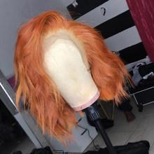 Парики из натуральных волос COLODO Orange, 13х4 волнистые волосы Remy для детей, 150%, синие, короткие, кружевные, передние, черные, для женщин(Китай)
