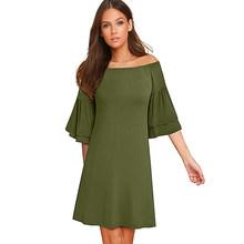 Женское платье Nice-forever, повседневное, однотонное, прямого силуэта, с вырезом лодочкой, A165(Китай)