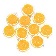 10 шт. милые плоские Подвески из смолы с лимоном для украшения фруктов DIY серьги, брелок для телефона Аксессуары Горячая Распродажа(Китай)