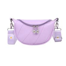 Креативный дизайн, повседневные нагрудные сумки для женщин, Классическая текстура, шикарный PU поясной ремень, кошелек, женские сумки-мессен...(Китай)