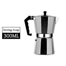 Прочный алюминиевый Перколятор Moka Cafeteira Expresso, практичный кофейник Moka 50/100/150/300/450/600 мл #6(Китай)