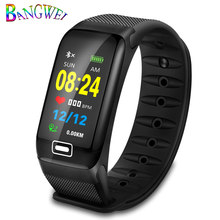 BANGWEI 2020 новые мужские smчасы Монитор артериального давления пульса трекер студенческий сон плавание электронные часы мужчины и женщины мужч...(Китай)