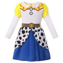 Girl Vampirina Makeup Dress Cartoon Movie Toy Story 4 Jessie Cosplay Aladdin Jasmine Princess Clothes Halloween Costume For Kids(China)