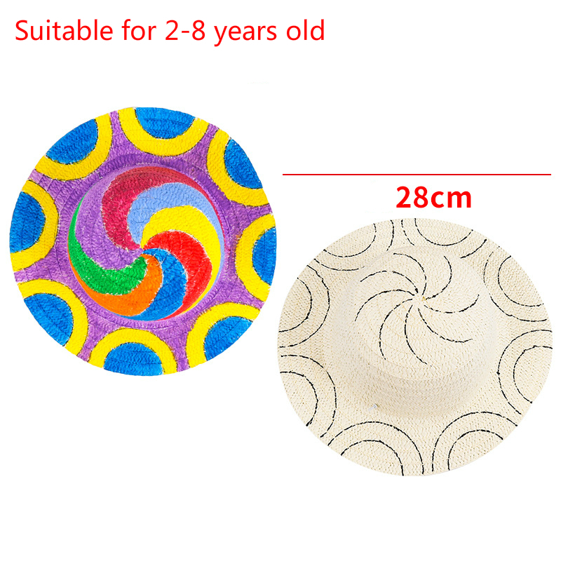 Креативные соломинки для рукоделия шапки игрушки для детей Knutselen Kinderen Рисование игрушки мальчик картина с изображением девушки создание шл...(Китай)