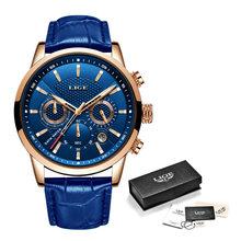 2020 новые мужские часы LIGE Лидирующий бренд кожаный Хронограф водонепроницаемые спортивные автоматические кварцевые часы для мужчин Relogio ...(China)