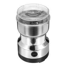 110 В 220 В электрическая кофемолка для кофейных зерен, нержавеющая сталь, лезвия для дома, кухни, шлифовальные принадлежности с вилкой США/Вел...(Китай)