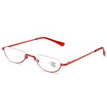 Сверхлегкие металлические полуоправы очки для чтения унисекс портативные бизнес очки пресбиопии с диоптриями + 1,00 + 1,50 + 2,00 + 2,50 + 3,00(China)