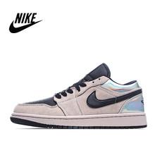 Мужская и женская Баскетбольная обувь Nike Air Jordan 1 Low AJ1 Spruce Aura Размер 36-45 CW1381-003()