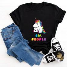 Женская футболка унисекс Ew People, хипстерские футболки с забавными кошками и маской, женские футболки с принтом, летняя графическая Футболка ...(China)