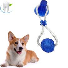 Многофункциональная интерактивная игрушка для укуса молярных животных, резиновая игрушка для собак, игрушка для жевания с присоской, мяч д...(Китай)