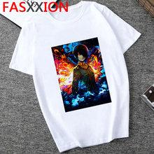 Лидер продаж, аниме футболка Tokyo Ghoul, Мужская Уличная одежда в стиле хип-хоп, Харадзюку, каваи, японские мультипликационные футболки с графич...(Китай)
