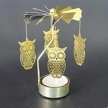 Домашний декор, горячая вращающаяся, крутящаяся металлическая карусель, чайный светильник, подсвечник, стоячий светильник, рождественский ...(Китай)