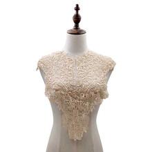 1 шт. белый кружевной воротник для рукоделия, вышитая кружевная ткань, аппликация для DIY платья, товары для шитья, 5 цветов(Китай)