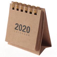 1 шт., 2020, простая настольная катушка, календарь, мультяшный мини-стол, календари, сделай сам, блокнот, планировщик, расписание, школьные прина...(Китай)