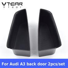 Vtear для Audi A3 дверная коробка для хранения ABS interior аксессуары для подлокотников сумка для монет сумка держатель Багажник автомобильный Орган...(Китай)