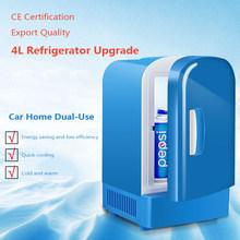 Мини-холодильник для кемпинга на 12 В, мини-холодильник, кулер и подогреватель, достаточно вместительный, 4л, не нужен холодильник(Китай)