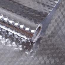Самоклеющаяся алюминиевая фольга для кухни, масляные самоклеящиеся обои для кухни, многофункциональные настенные наклейки для кухни, прис...(Китай)