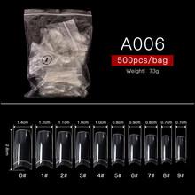 500 шт./кор. накладные ногти Дисплей искусственный на большие расстояния балетки прозрачный/нейтральный/белый накладные ногти Нейл Арта, пол...(Китай)