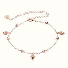 Женский браслет с ананасовыми шариками, простой браслет на щиколотку с цепочкой для ног, розовое золото, модные украшения для ног(Китай)