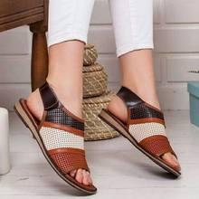 Женские пляжные сандалии в стиле ретро Taoffen, повседневные уличные сандалии для отпуска, Размеры 35-43(Китай)