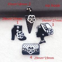 8 шт. белая и Черная смола Flatback Hat подвеска в виде зонтика кабошоны из смолы DIY аксессуары для ожерелья подвеска(Китай)