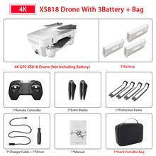 Мини-Дрон Visuo Xs818 Zen с GPS, Wi-Fi, FPV, 4K HD, двойная камера, оптический поток, Радиоуправляемый квадрокоптер, Дрон VS E520S SG907(China)
