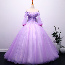 Женское свадебное платье It's YiiYa, элегантное фиолетовое платье с аппликацией и вырезом лодочкой, Длинные свадебные платья размера плюс, oy222(China)