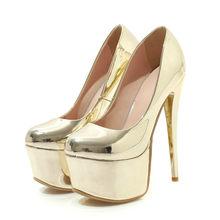 AGODOR/женские туфли на высоком тонком каблуке и платформе; туфли на шпильке для вечеринки; модельные туфли-лодочки; цвет золотистый, Серебрист...(Китай)