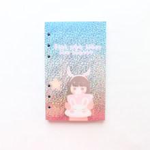 Domikee A6 милый креативный лазерный Корейский мультфильм с 6 отверстиями, заполняющие Внутренние листы для многоразового переплета, спиральны...(Китай)